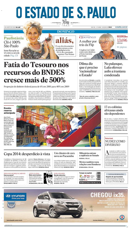 784ae601361a6 O Estado de SP em PDF - Domingo 01082010 by Carlos Silva - issuu