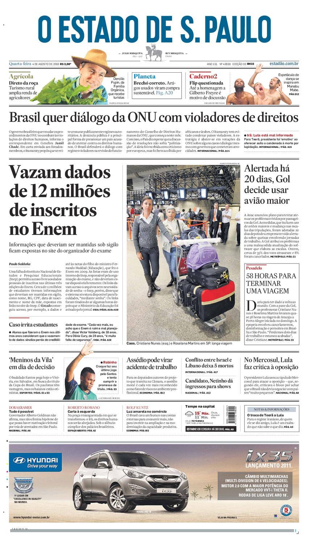 O Estado de SP em PDF - Quarta 04082010 by Carlos Silva - issuu 052068b7f592e