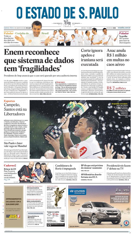 O Estado de SP em PDF - Quinta 05082010 by Carlos Silva - issuu 3ee45992dca19