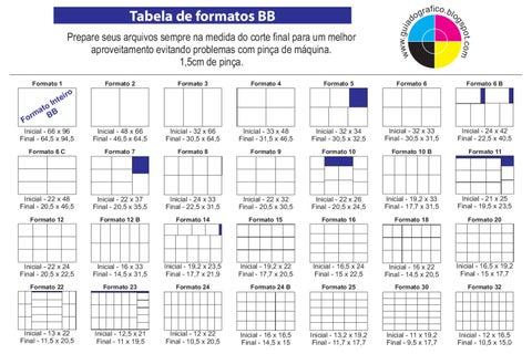 tabela formatos 66 x 96 by ricardo minoru issuu