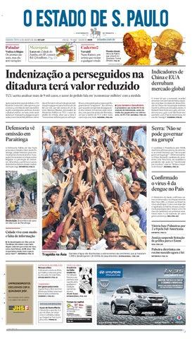 af0ad16cc O Estado de SP em PDF - Quinta 12082010 by Carlos Silva - issuu