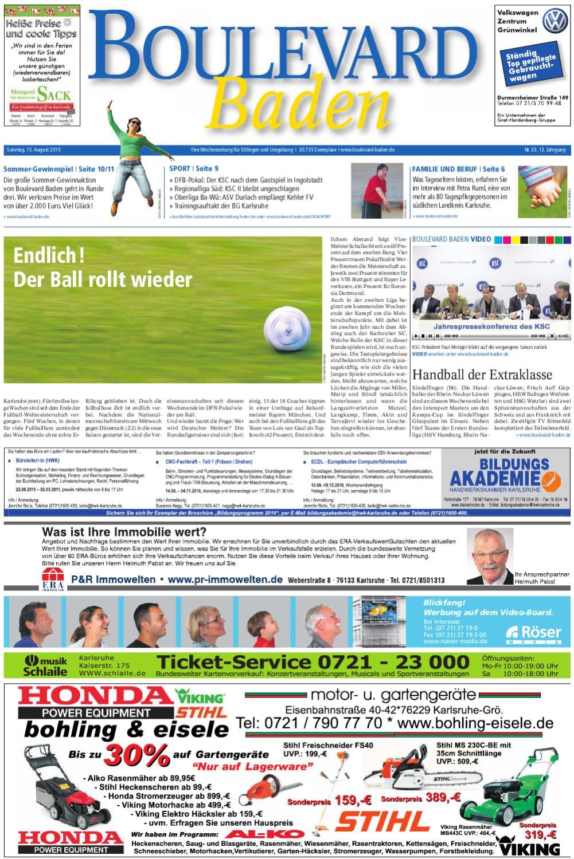 Boulevard Baden Ausgabe Ettlingen 15 08 2010 By Röser Media Issuu