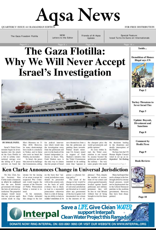 Aqsa News, Issue 44, August 2010 Ramadhan Edition by Friends