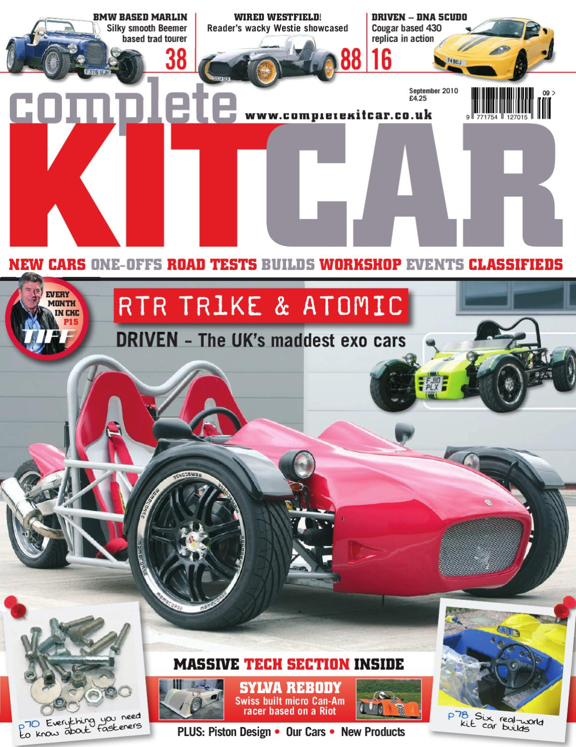 Complete Kit Car magazine September 2010 Preview by Performance ...