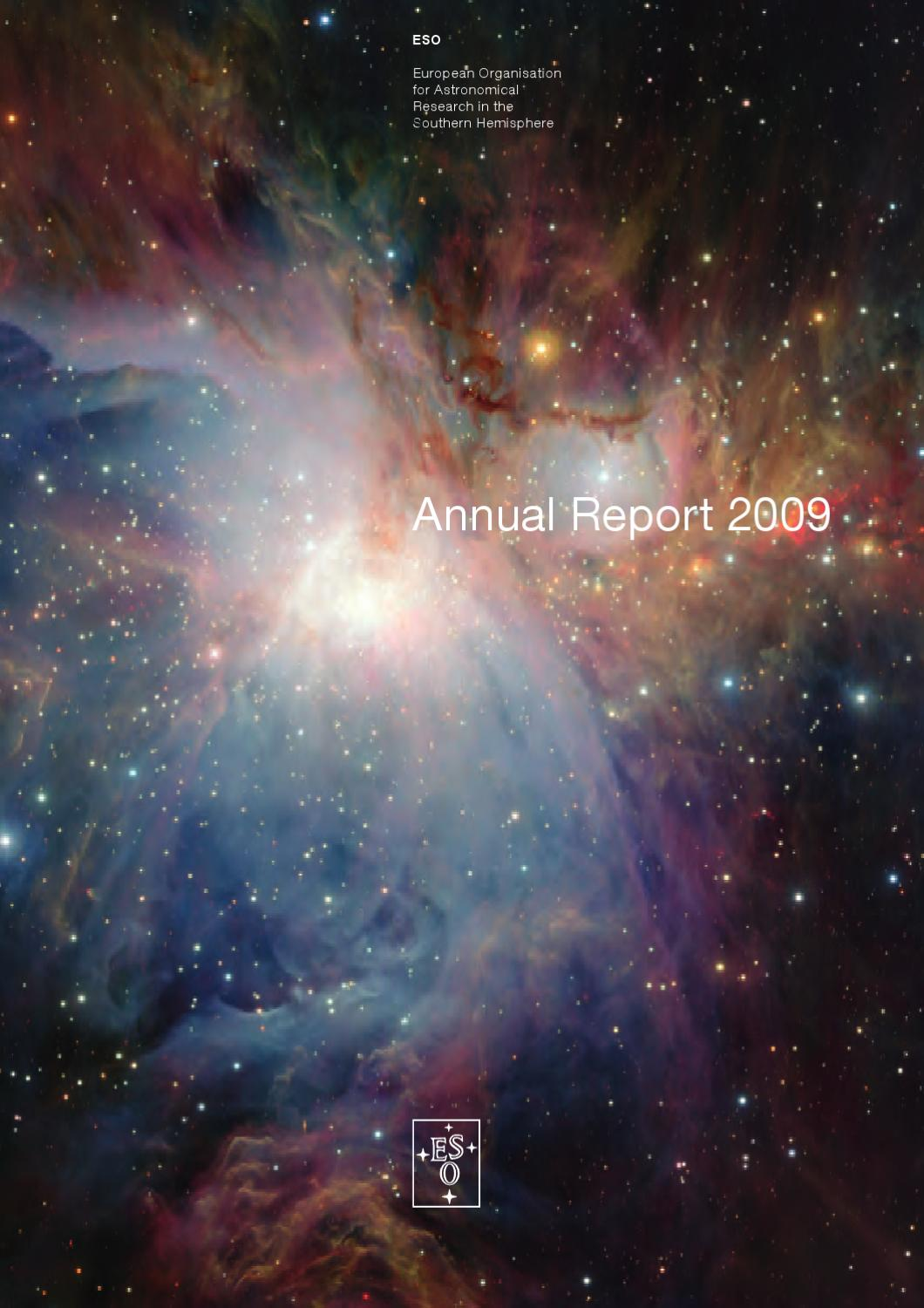ESO Annual Report 2009 by European Southern Observatory - issuu