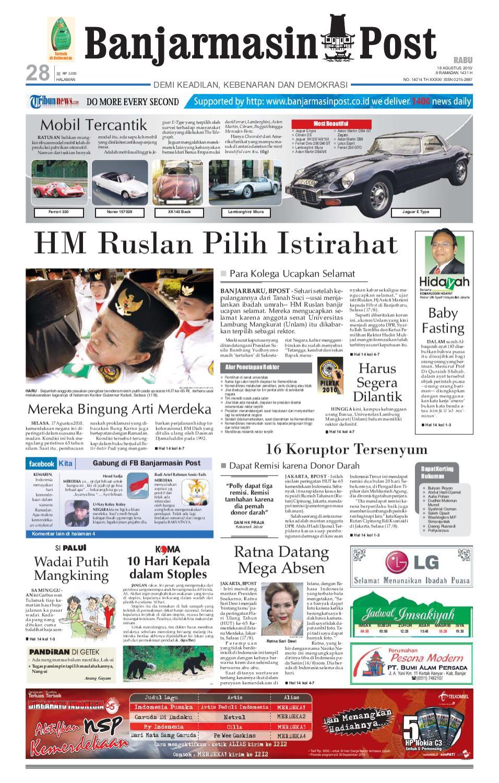 Banjarmasin Post Edisi 18 Agustus 2010 By Issuu Produk Ukm Bumn Tenun Pagatan Atasan Wanita 4