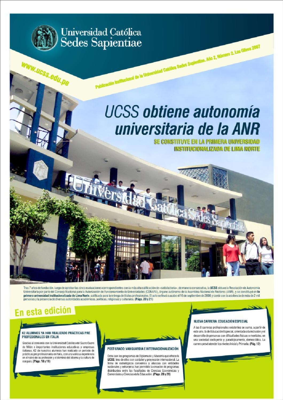 Peri Dico Ucss 02 By Universidad Cat Lica Sedes Sapientiae Ucss  # Muebles Ludena Chimbote