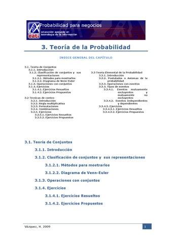3 y 31 teora de la probabilidad by heriberto vzquez serna issuu introduccin 312 clasificacin de conjuntos y sus representaciones 3121 mtodos para mostrarlos 3122 diagrama de venn euler 313 ccuart Choice Image