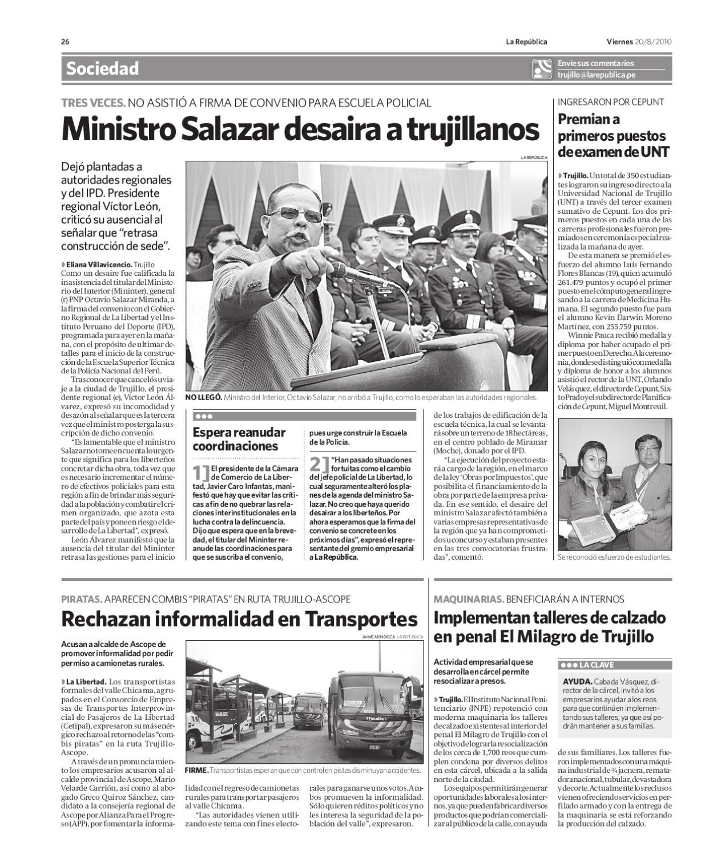 edicion viernes 20 agosto by Grupo La República Publicaciones - issuu
