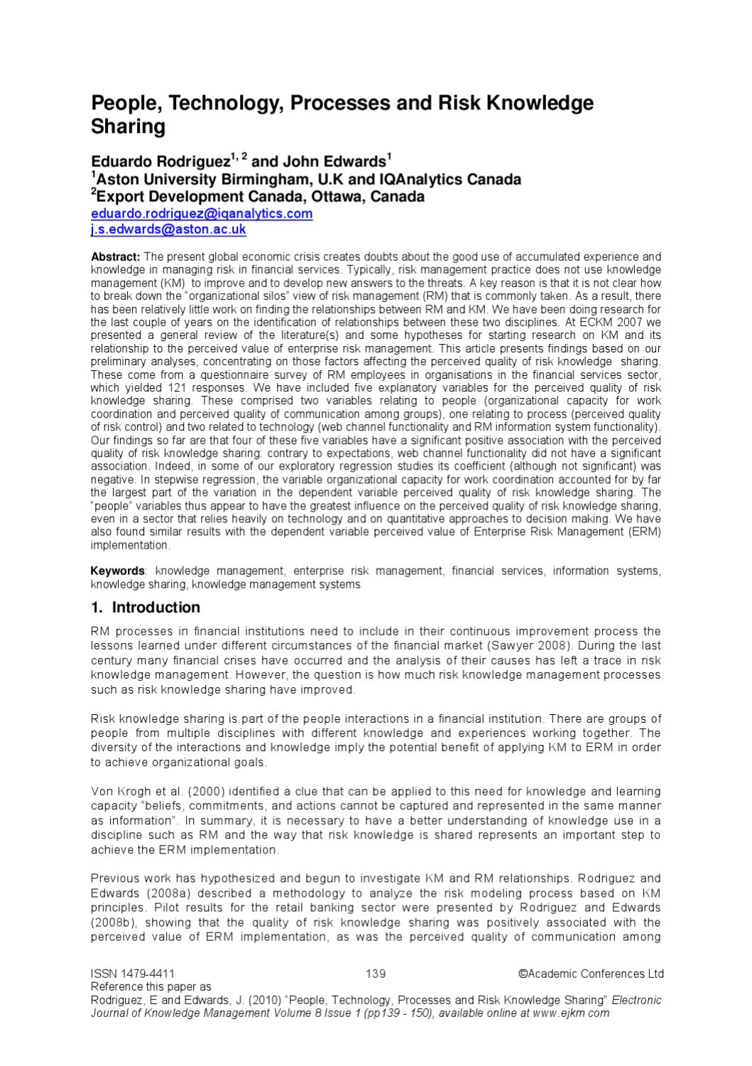 a case study on knowledge management implementation in the banking sector