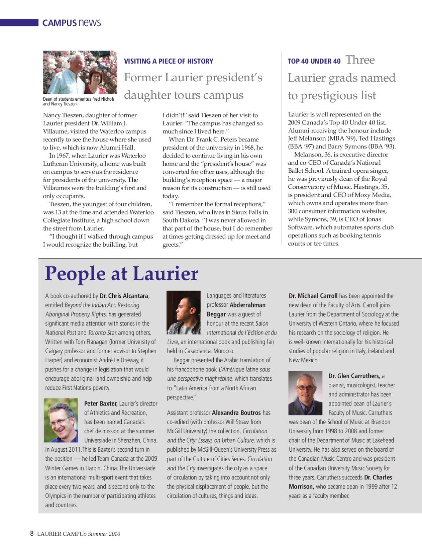 Summer 2010 Campus Magazine by Wilfrid Laurier University