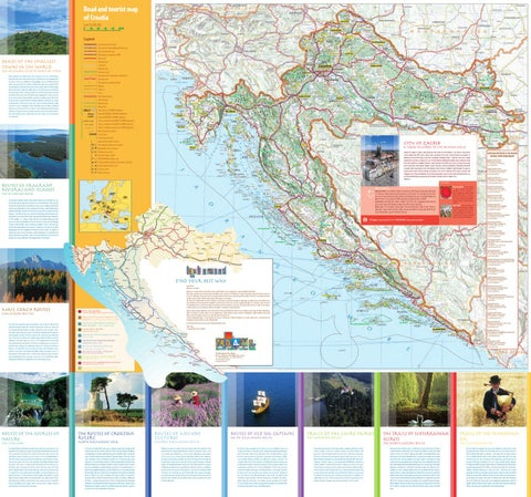 Tourist information with road map of croatia 2016 en by Croatian
