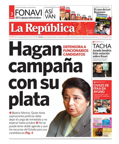 202b65c549b3a Edición Lima La República 22082010 by Grupo La República ...