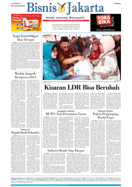 Bisnis Jakarta Senin 23 Agustus 2010 By E Paper Kmb Issuu Produk Ukm Bumn Suscho Sus Coklat Surabaya