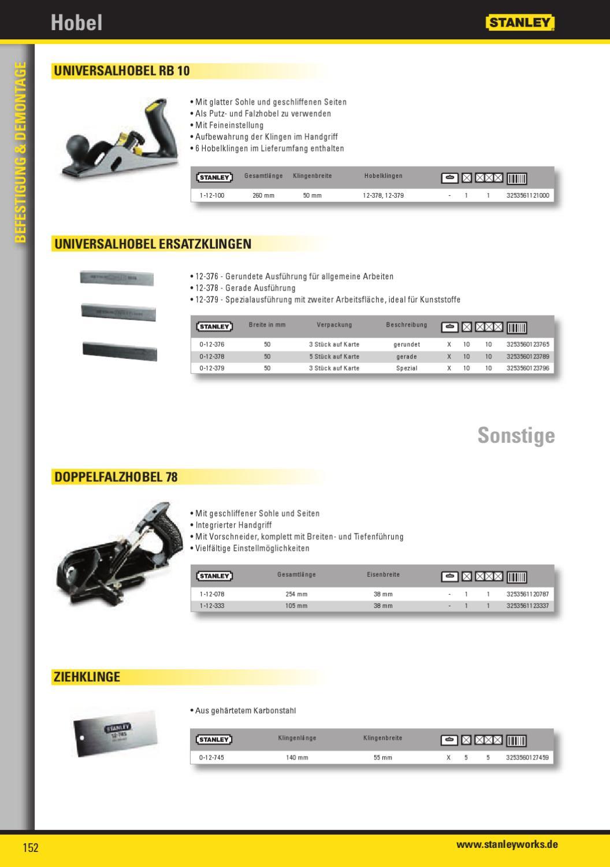 Stanley  1-12-100  Universalhobel RB 10  260  x 50 mm  12-100