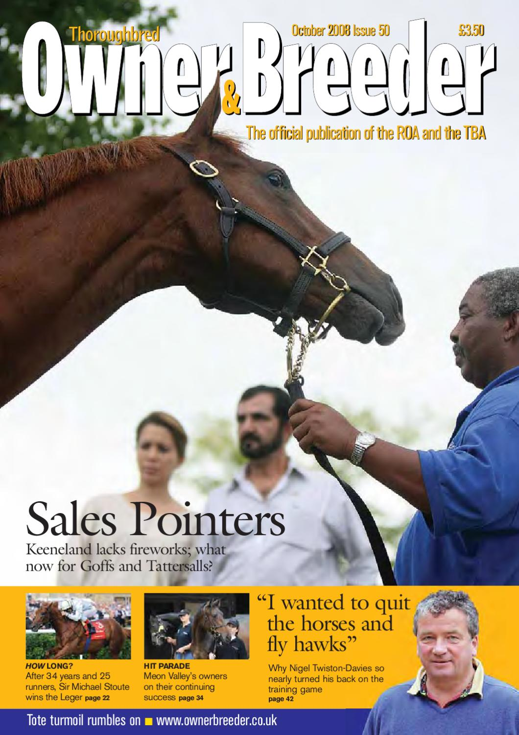 Oboct08 By Thoroughbred Owner Breeder Issuu
