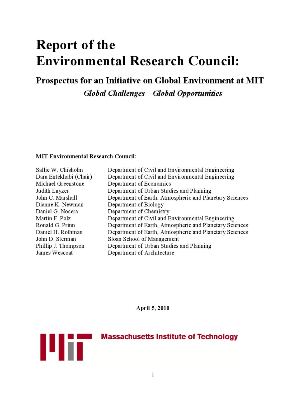 Prospectus for an initiative on global environment at mit report prospectus for an initiative on global environment at mit report er council by giancarlo colombo issuu xflitez Gallery