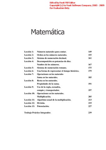Matemática 1º Nivel by Liliana Coria - issuu