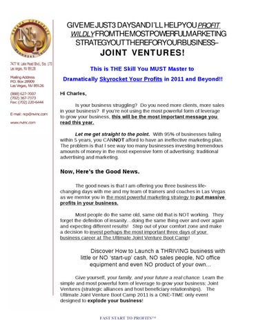 Ultimate Joint Venture Sales Letter By Scott Letourneau Issuu