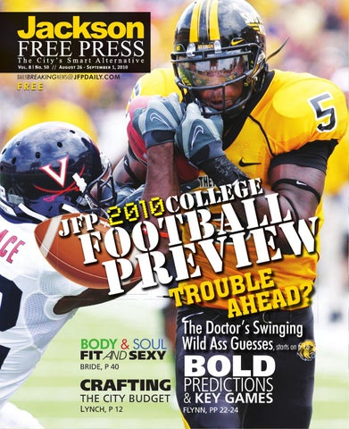 v8n50 - JFP College Football Preview by Jackson Free Press Magazine ... 9493a6ce7363