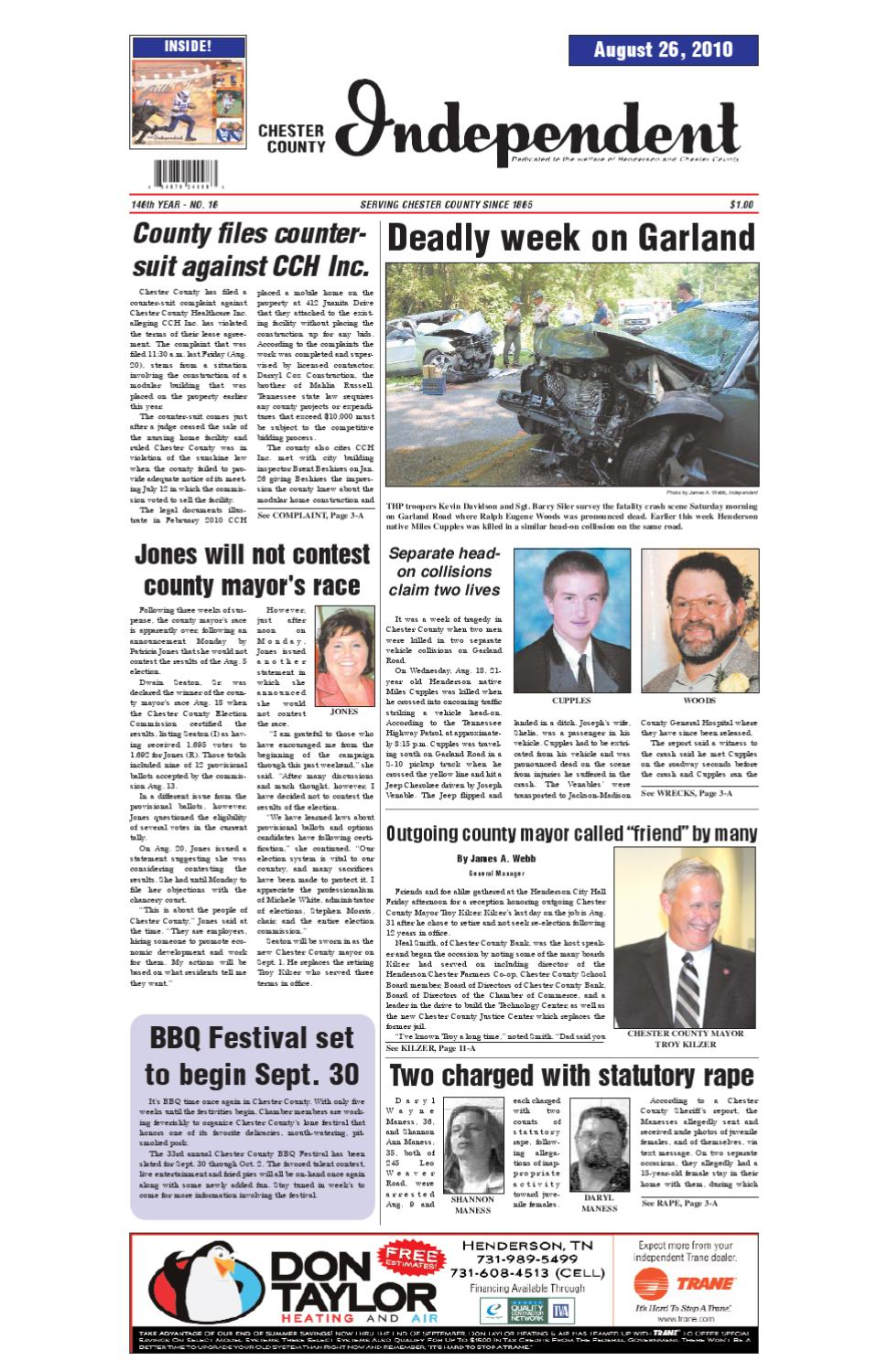 Tennessee chester county enville - Chester County Independent 08 26 10 By Chester County Independent Issuu