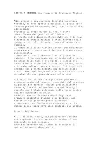 OSEIDO E DEMONIA (un romanzo di Giancarlo Algieri)