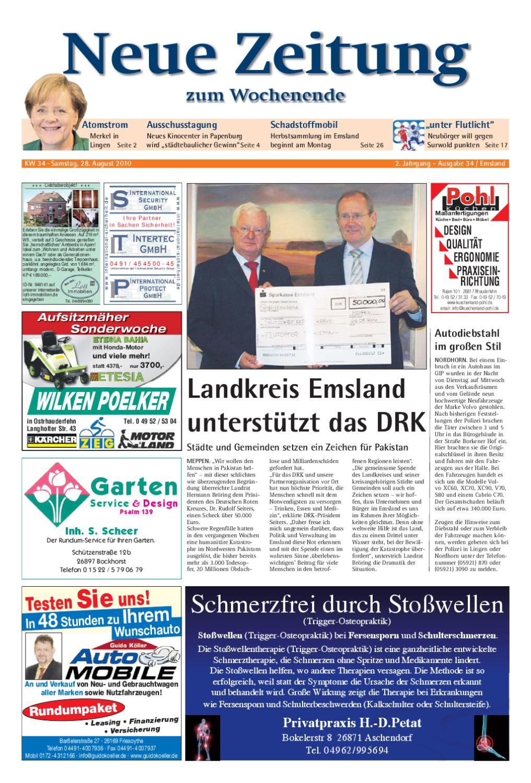 Neue Zeitung   Ausgabe Emsland KW 34 By Gerhard Verlag GmbH   Issuu