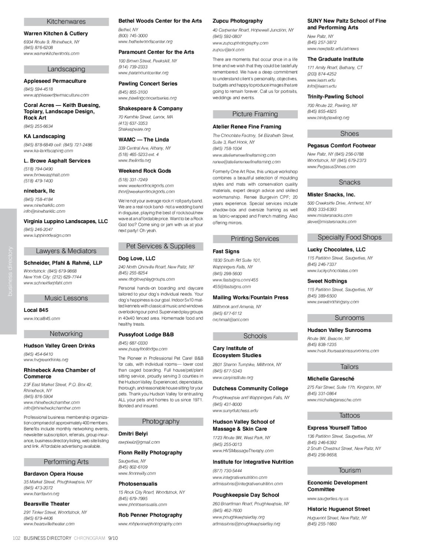 Chronogram September 2010 by Chronogram - issuu
