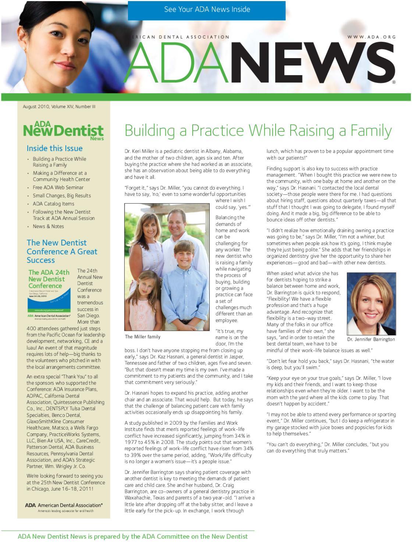 American Dental Association News by Erie Family Health