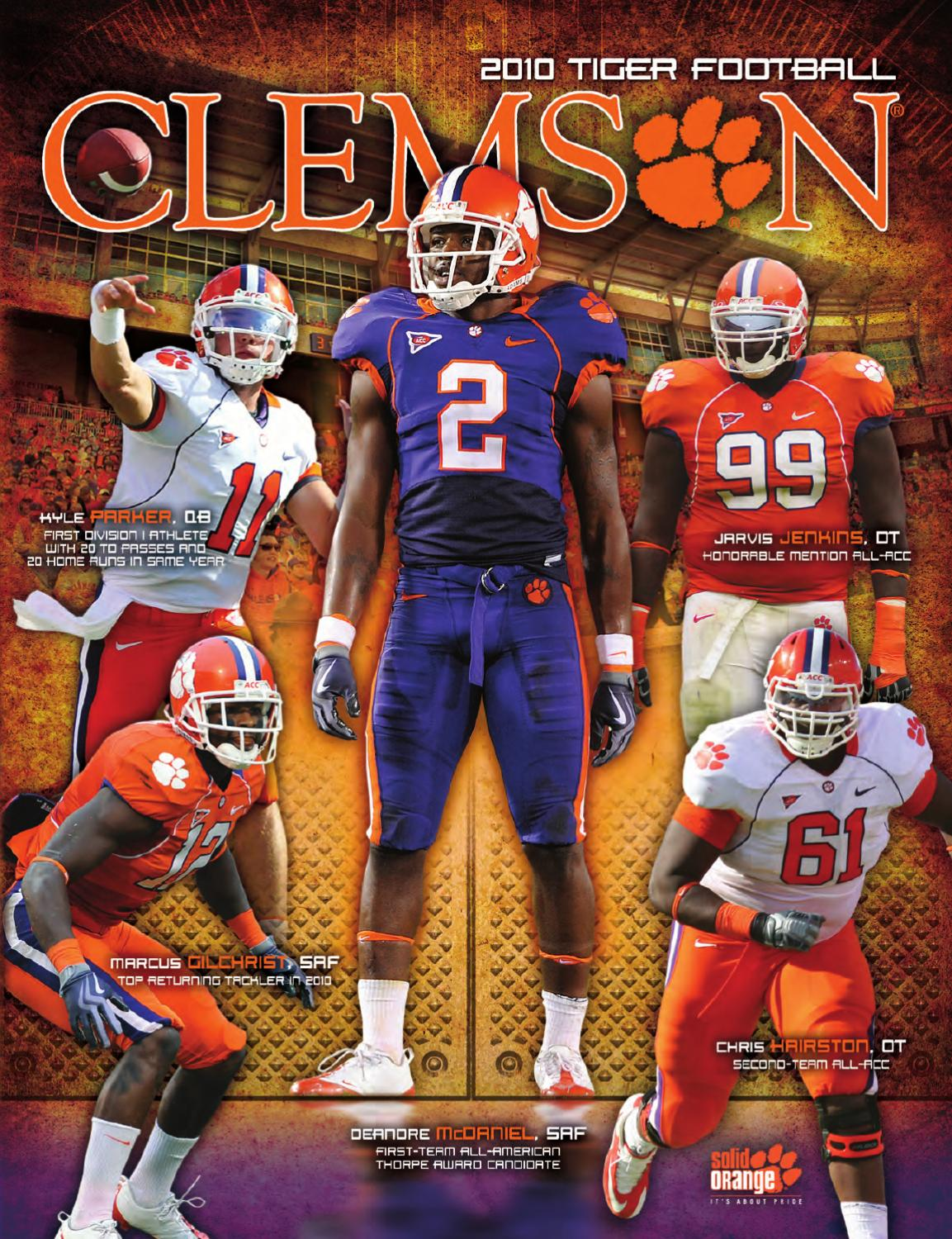 2010 Clemson Football Media Guide By Clemson Tigers Issuu