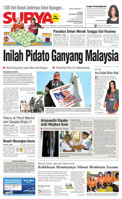 Surya Edisi Cetak 28 Agustus 2010 By Harian Surya Issuu