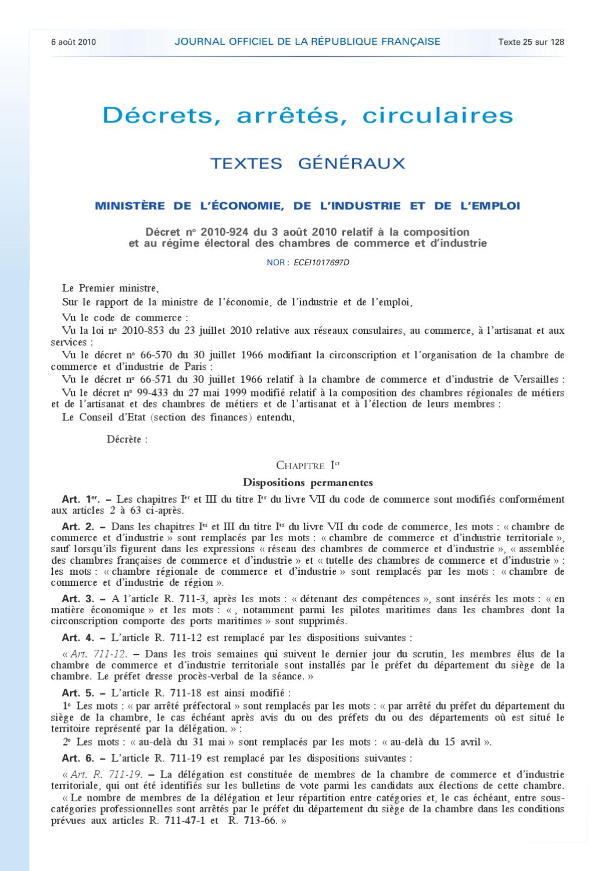 Composition et r gime lectorale des chambres de commerce et d 39 industrie by fr d ric petit issuu - Chambre de commerce versailles ...