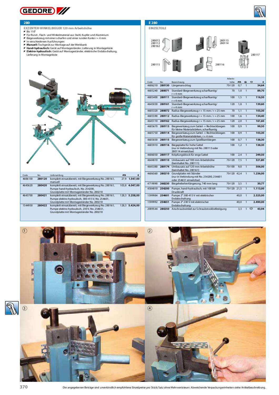 280071 Gedore Standard-Biegewerkzeug scharfkantig 70 mm