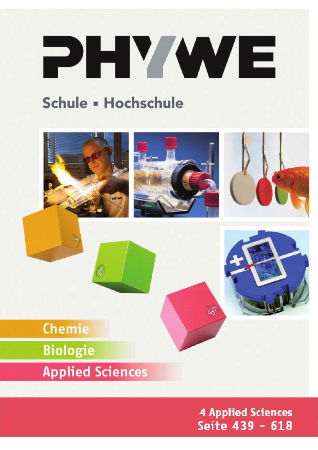 DE Kat. Ch/Bio/ApplSc - Applied Sciences by PHYWE Systeme GmbH & Co ...