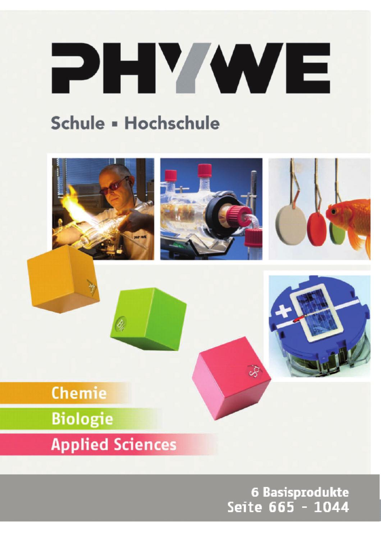 DE Kat. Ch/Bio/ApplSc - Basisprodukte by PHYWE Systeme GmbH & Co KG ...