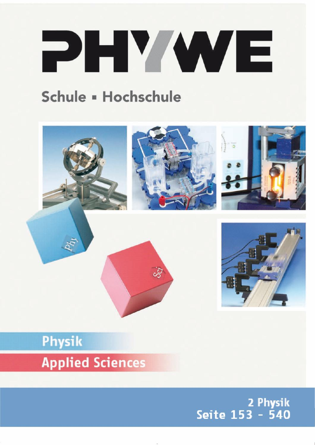 DE Kat. Physik/ApplSc - Physik by PHYWE Systeme GmbH & Co KG - issuu