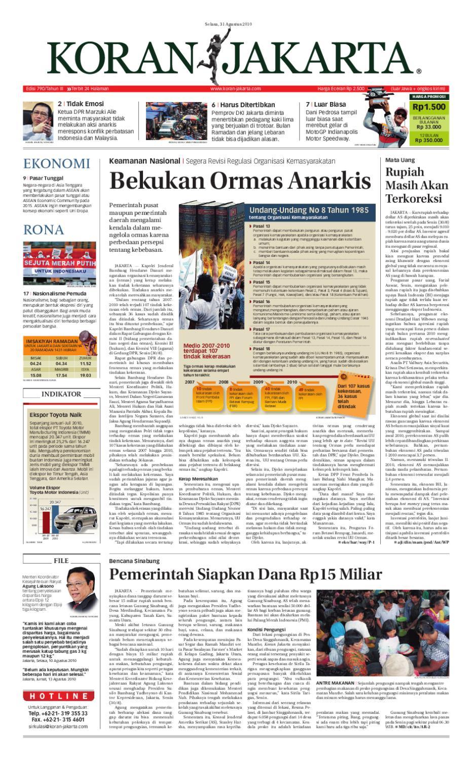 Edisi 790 31 Agustus 2010 By Pt Berita Nusantara Issuu Parcel Makanan Pja 1606