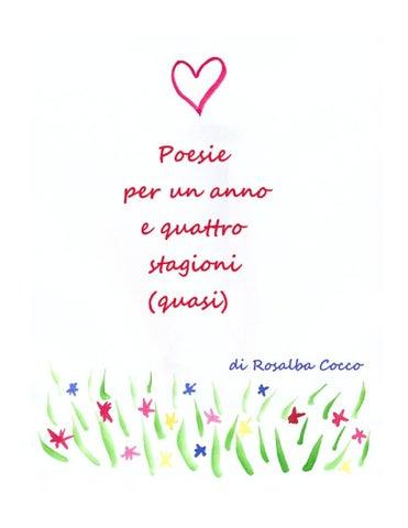 Poesie Per Un Anno E Quattro Stagioni Quasi By Rosalba Cocco Issuu