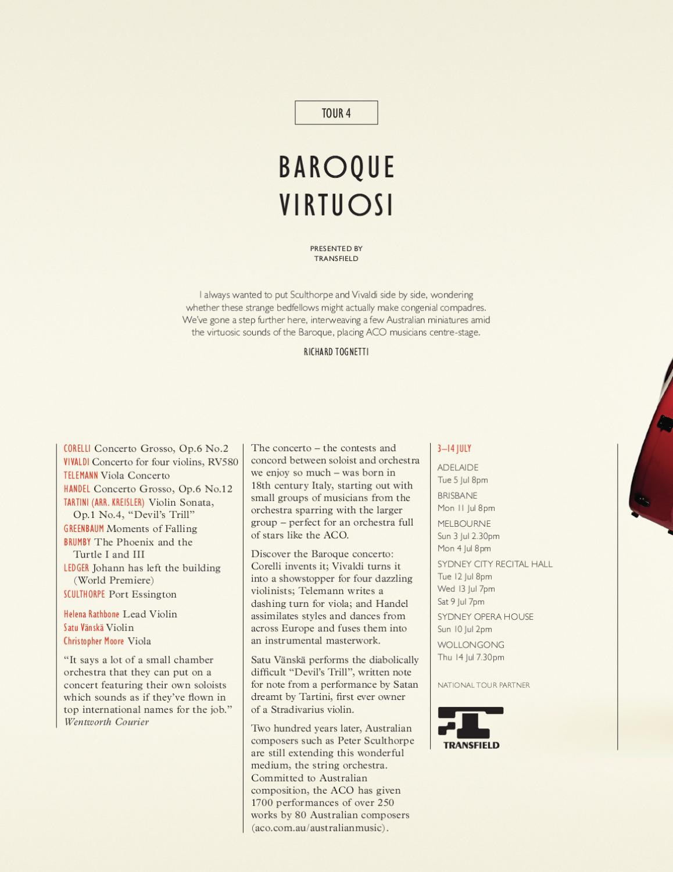 ACO 2011 Brochure by Australian Chamber Orchestra - issuu
