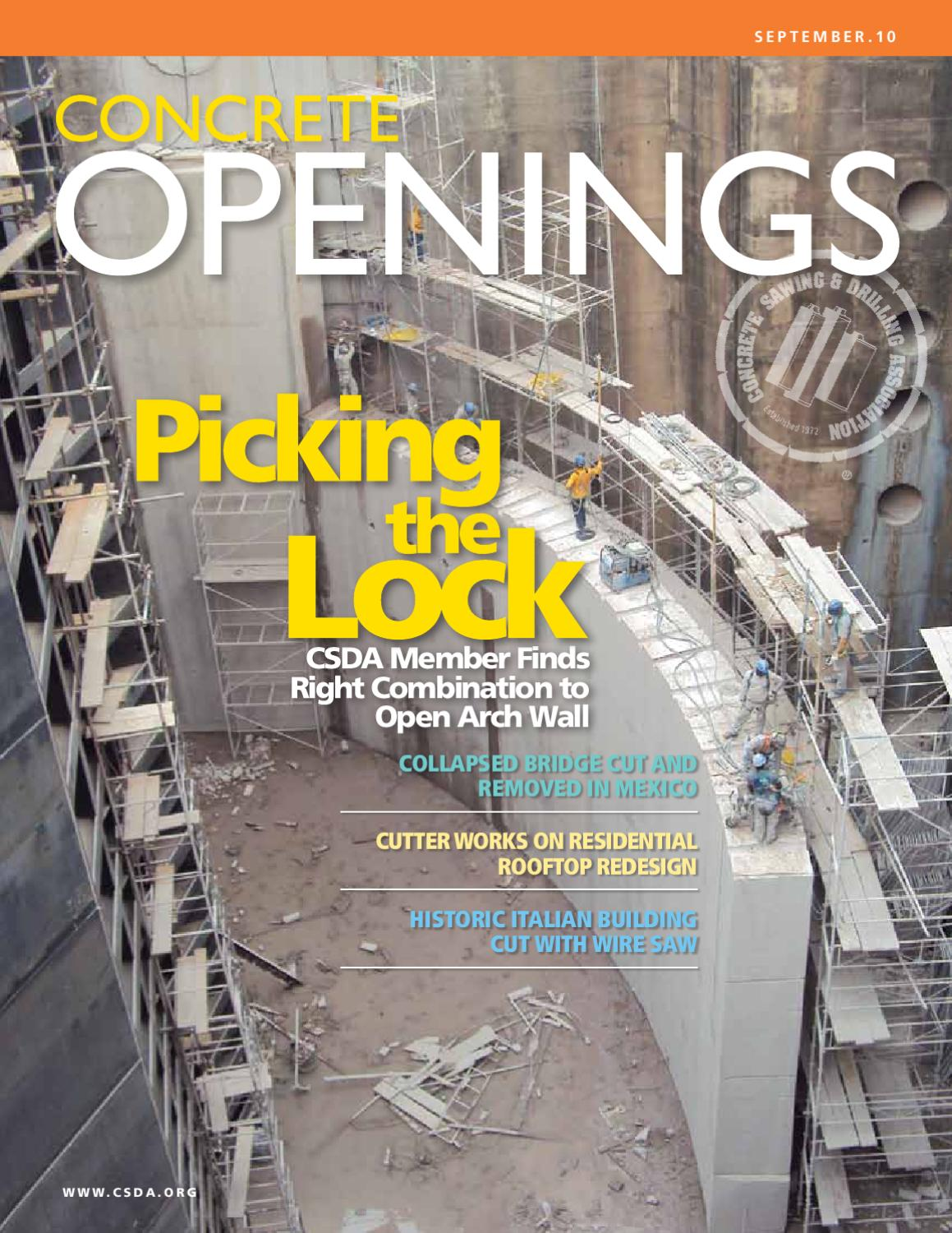 September 10 Concrete Openings by Concrete Openings Archive