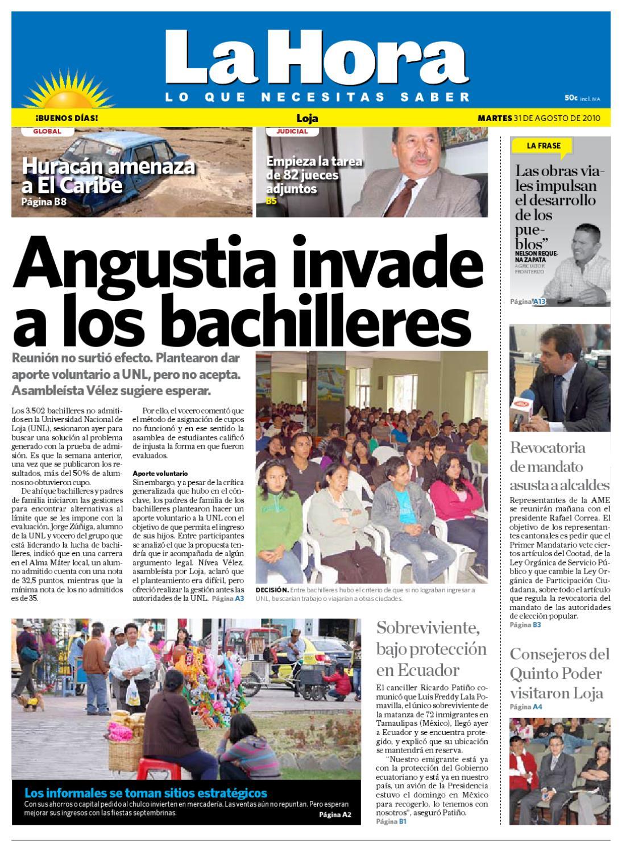 diario la hora loja 31 de agosto de 2010 by diario la hora