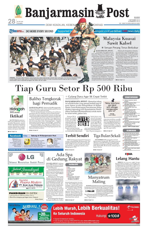 Banjarmasin Post Edisi Rabu 1 September 2010 By Banjarmasin Post  # Muebles Tipo Wimpy