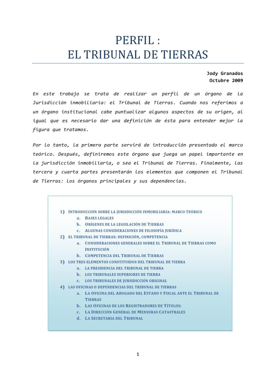 Tribunal de tierras del departamento central by opd rvatorio ...