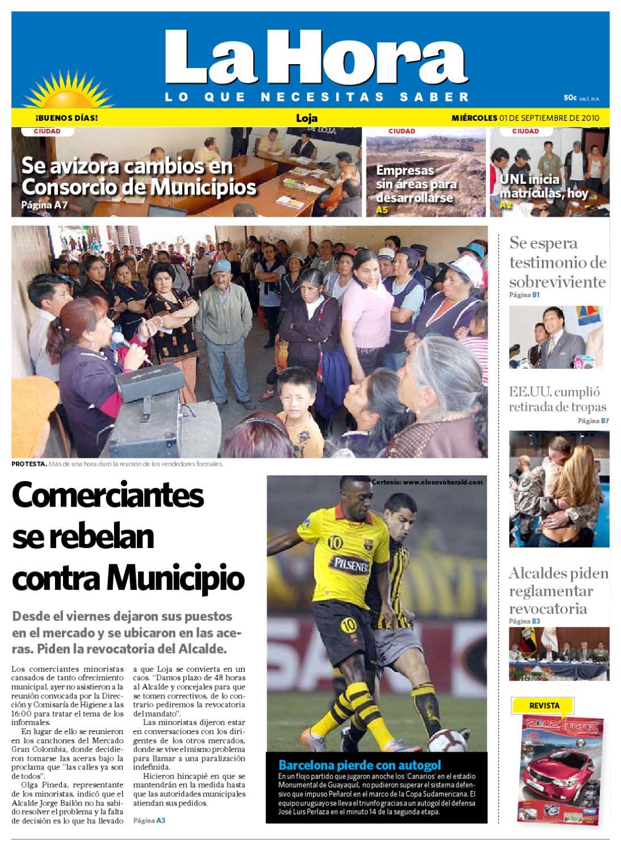 Diario La Hora Loja 1 de Septiembre de 2010 by Diario La Hora ...