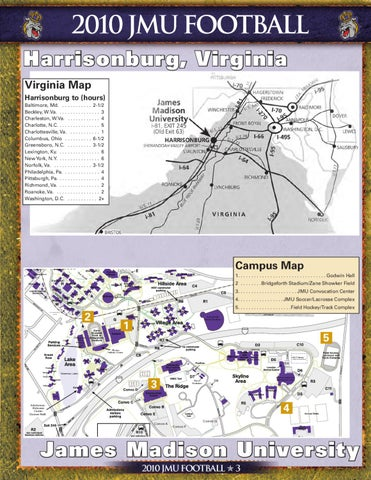 James Madison Campus Map.2010 James Madison University Football Guide By James Madison