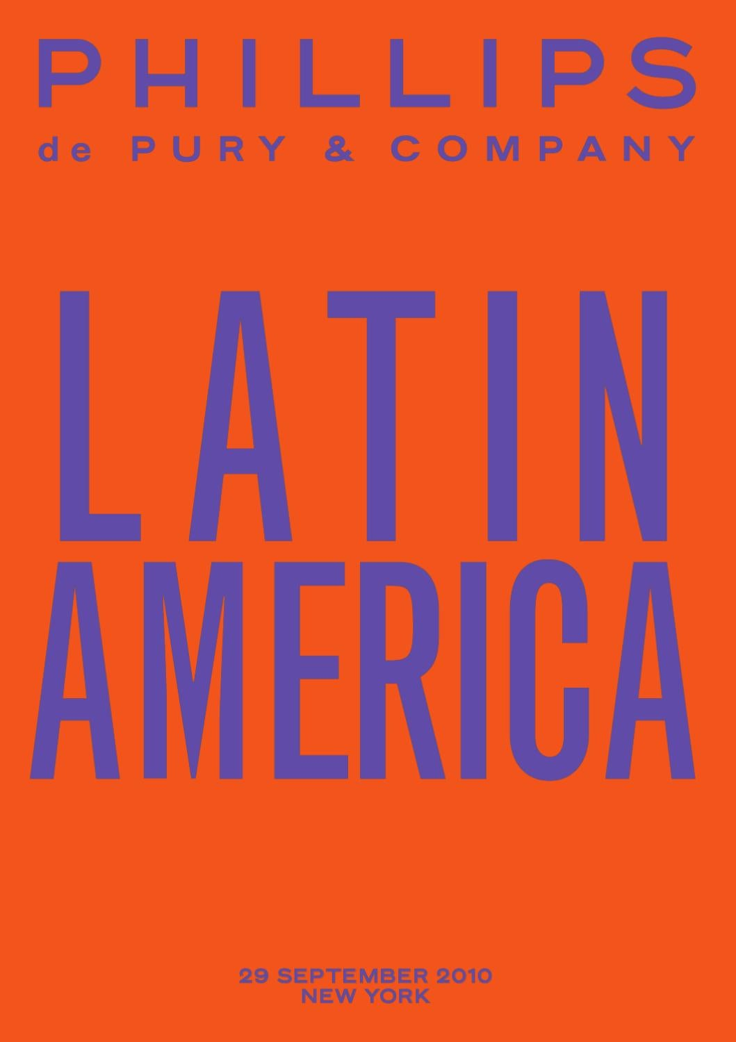 1ca50dad Latin America Theme Sale NY by Phillips de Pury & Co. - issuu