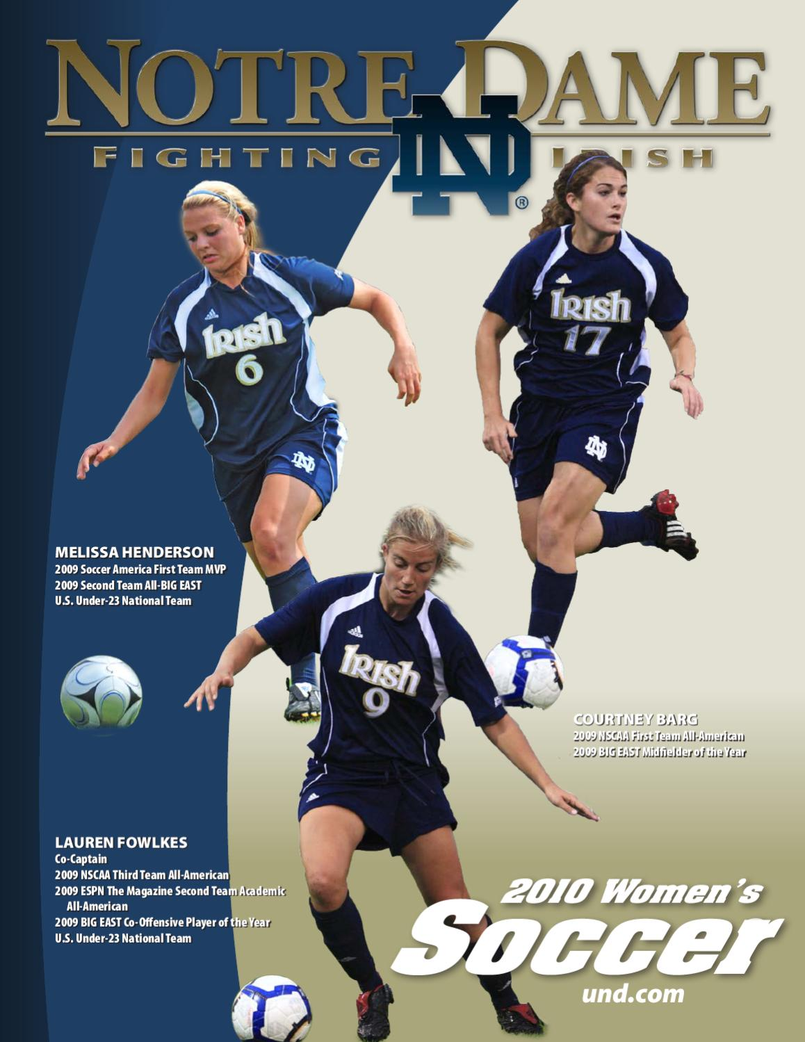 2010 Notre Dame Women's Soccer Media Guide by Chris Masters