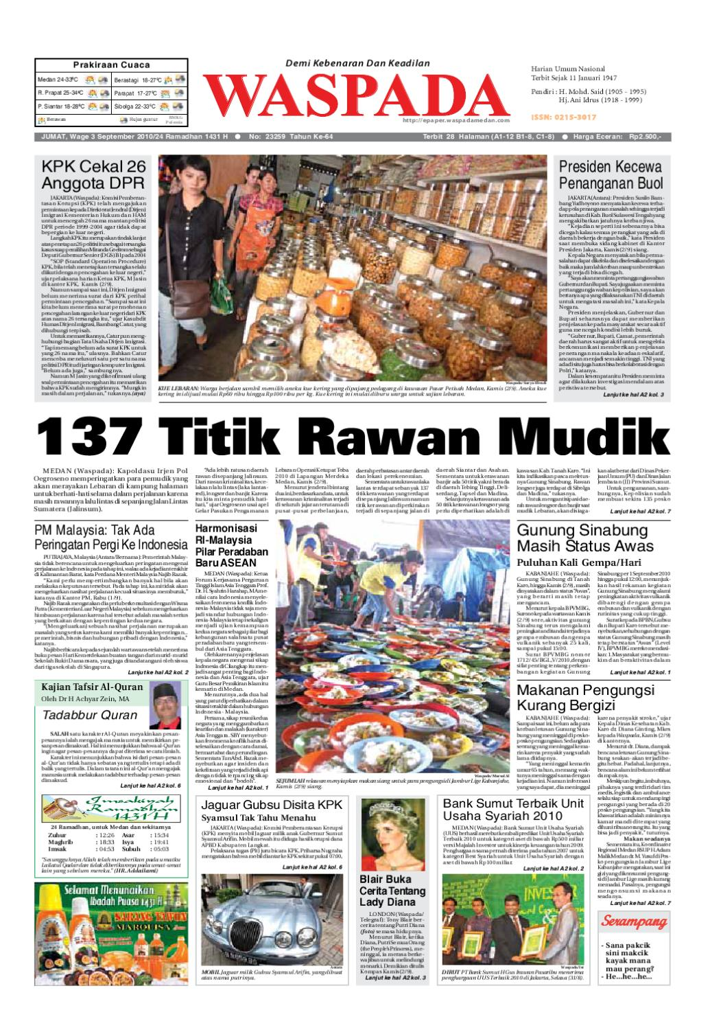 Waspada Jumat 3 September 2010 By Harian Waspada Issuu