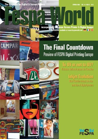 42dfa455d56 Fespa World Editor s letter According to a recent survey carried out by the  SGIA