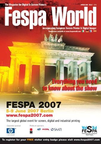 Fespa World Cara del editor ¡Bienvenido a este avance del número especial  de FESPA 2007 b0aa09203a2d